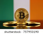 physical version of bitcoin ... | Shutterstock . vector #757953190