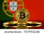 physical version of bitcoin ... | Shutterstock . vector #757953238