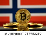 physical version of bitcoin ... | Shutterstock . vector #757953250
