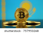 physical version of bitcoin ... | Shutterstock . vector #757953268