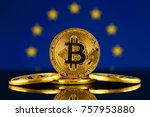 physical version of bitcoin ... | Shutterstock . vector #757953880