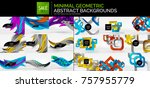 mega collection of geometric... | Shutterstock .eps vector #757955779