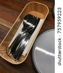 tableware used on a regular... | Shutterstock . vector #757959223