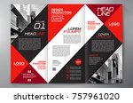 business brochure. flyer design.... | Shutterstock .eps vector #757961020