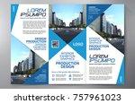business brochure. flyer design.... | Shutterstock .eps vector #757961023