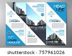 business brochure. flyer design.... | Shutterstock .eps vector #757961026