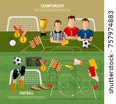 soccer world cup banner ... | Shutterstock .eps vector #757974883