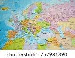 world political map background | Shutterstock . vector #757981390