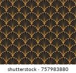 vector floral art nouveau... | Shutterstock .eps vector #757983880
