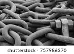 Close Up Of Anchor Chain  Stud...