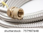 fittings for pipe fastening.... | Shutterstock . vector #757987648