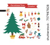 christmas collection of... | Shutterstock .eps vector #757987828
