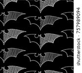 bat vector illustration. cute... | Shutterstock .eps vector #757989094
