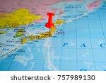 world political map background | Shutterstock . vector #757989130