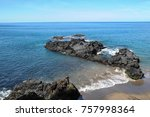 scenery of beach and sea ... | Shutterstock . vector #757998364