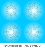 snow flakes vector illustration ...   Shutterstock .eps vector #757999870