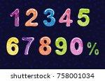 bubble cartoon of fonts .... | Shutterstock .eps vector #758001034