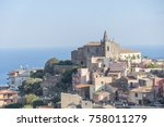 beauitiful view of a sicilian... | Shutterstock . vector #758011279