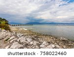 a view of lake garda from... | Shutterstock . vector #758022460