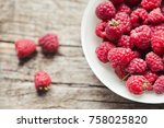 raspberry close up toned photo | Shutterstock . vector #758025820