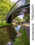 bridge on the oxford canal and... | Shutterstock . vector #758026393