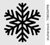 snowflake icon vector   Shutterstock .eps vector #758036998