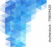 blue grid mosaic background ... | Shutterstock .eps vector #758039620