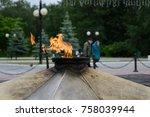 memorial of eternal fire in the ... | Shutterstock . vector #758039944