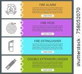 firefighting web banner... | Shutterstock .eps vector #758052070