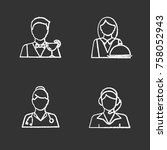 professions chalk icons set.... | Shutterstock .eps vector #758052943