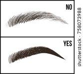 eyebrows design. set of well... | Shutterstock .eps vector #758073988