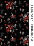 seamless floral pattern.... | Shutterstock .eps vector #758075956