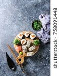 Homemade Sushi Rolls Set With...