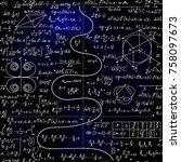 mathematical vector endless... | Shutterstock .eps vector #758097673