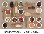 dried diet health food with... | Shutterstock . vector #758125363