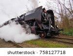 steam locomotive  historic... | Shutterstock . vector #758127718