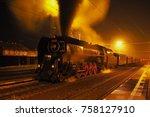 steam locomotive  historic... | Shutterstock . vector #758127910