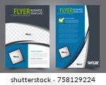 business flyer design template. ... | Shutterstock .eps vector #758129224