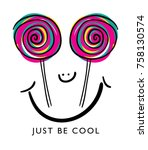 just be cool typography and... | Shutterstock .eps vector #758130574