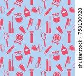seamless texture  pattern ... | Shutterstock .eps vector #758130928