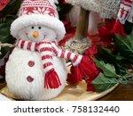 Christmas Plush Snowman. Happy...