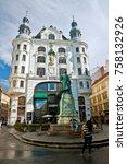 vienna  wien   austria ... | Shutterstock . vector #758132926