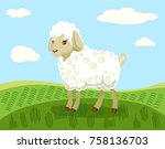 vector color cartoon image of a ... | Shutterstock .eps vector #758136703