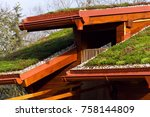 Green Ecological Sod Roof On...