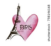 paris hand drawn vector...