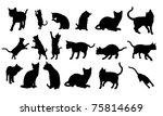 cat silhouette   Shutterstock . vector #75814669