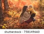 happy family mother and child... | Shutterstock . vector #758149660