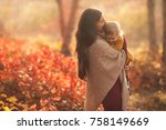 happy family mother and child... | Shutterstock . vector #758149669