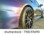 matte paint on the side of a... | Shutterstock . vector #758155690