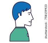 businessman profile avatar...   Shutterstock .eps vector #758159923